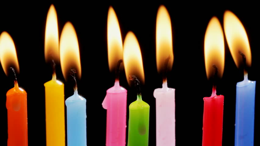 Colorful Birthday Candles Stok Video 100 Telifsiz 3722591