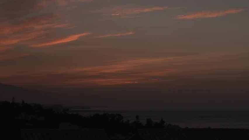 Time lapse of golden sunrise over Marbella, the Mediterranean Sea and the Costa del Sol in sunny Spain