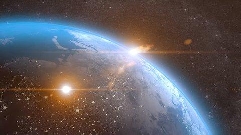 Meteor Strike Over Earth