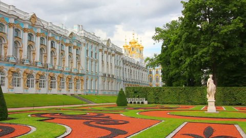 Catherine Palace in Pushkin, St. Petersburg Russia