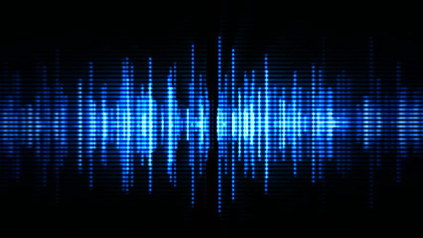 Blue high-tech waveform (seamless loop) | Shutterstock HD Video #3754907