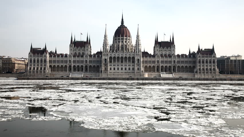 Hungarian Parliament in winter