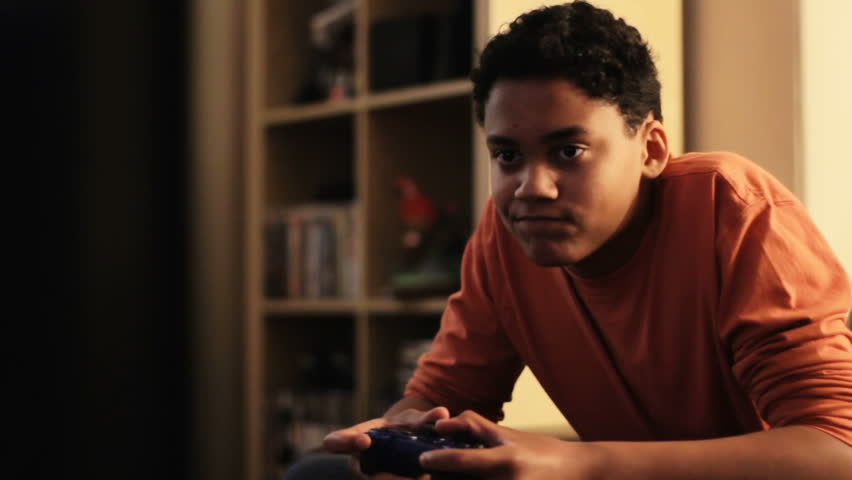 Stock Video Of Console Gaming - A Teenage Boy  3797531 -7935