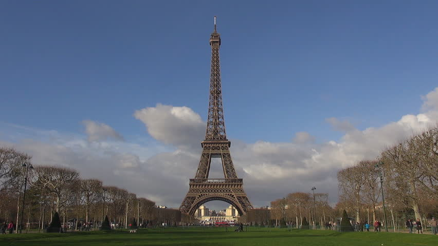 Amazing Eiffel Tower and Champ de Mars by day