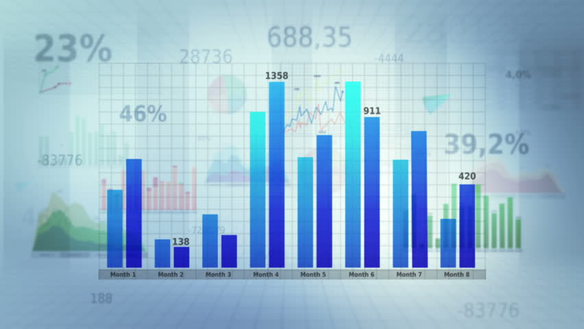 Financial figures and diagrams showing increasing profits. Loopable. White with copy space. SEE MORE COLOR OPTIONS IN MY PORTFOLIO. | Shutterstock HD Video #3823781