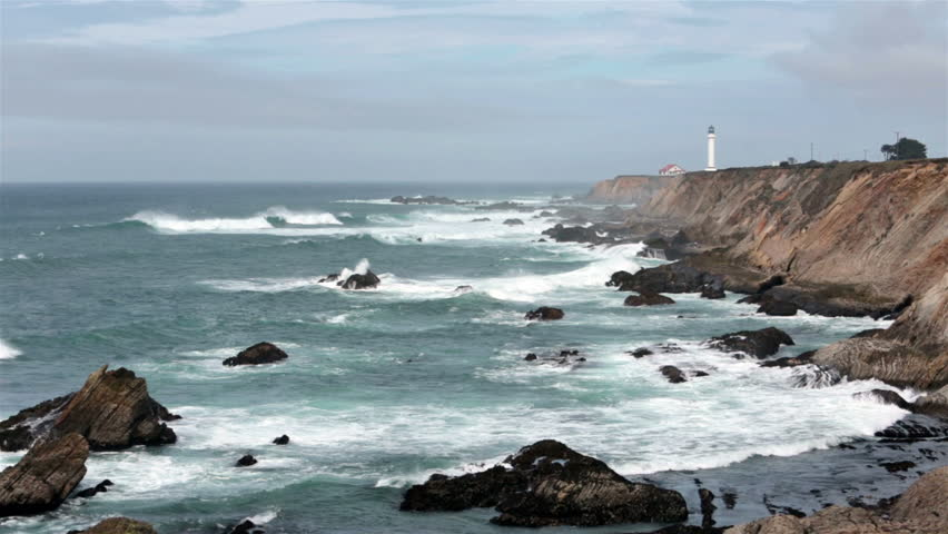 California Pacific Ocean Coastal Lighthouse Stock Footage Video 100 Royalty Free 3827921 Shutterstock