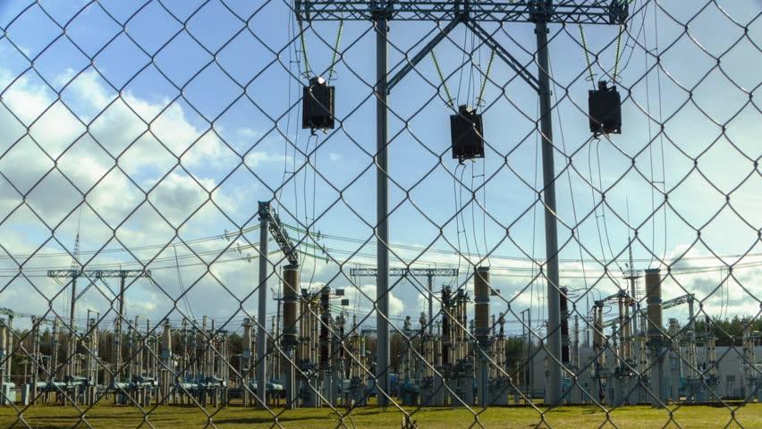 electrical substation, timelapse