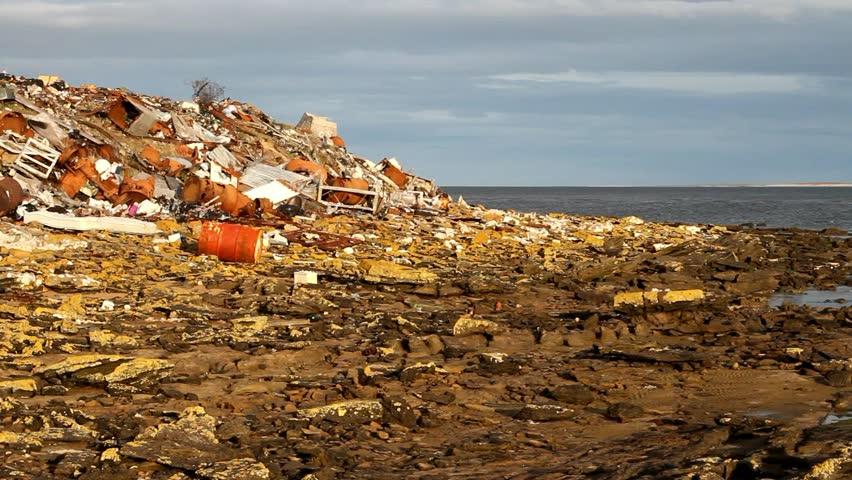 Illegal waste disposal, falkland island