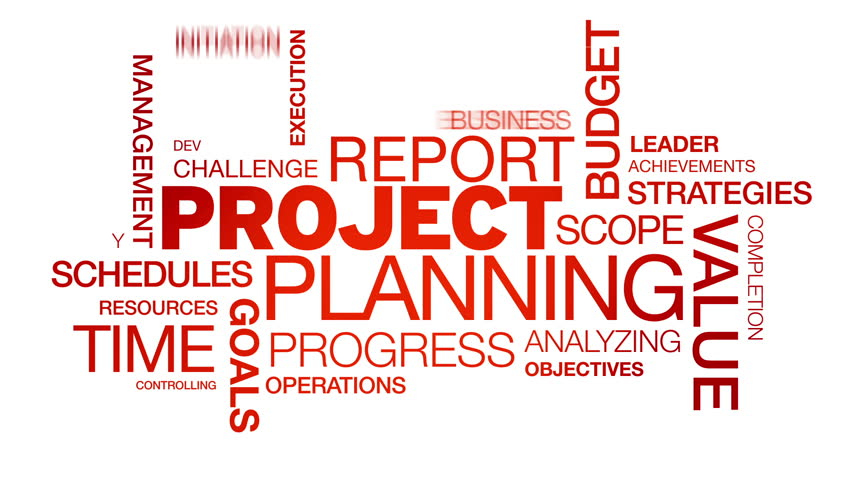 Project Planning Word Cloud Animation Stock Footage Video