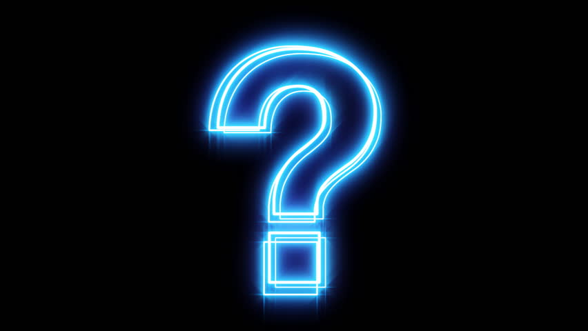 Glowing Blue Question Mark Stock Footage Video 3894713
