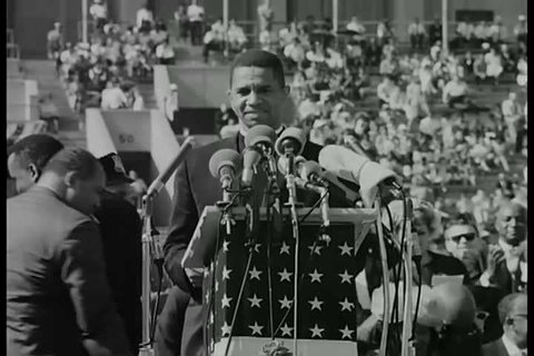1960s - A silent film about a civil rights rally in Chicago, Illinois