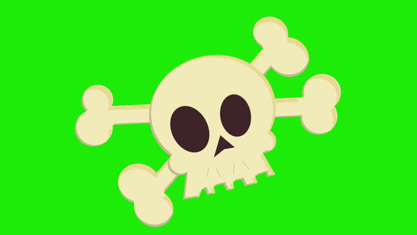 Cartoon Skull and Crossbones Appear Stock Footage Video (100% Royalty-free)  3913571 | Shutterstock