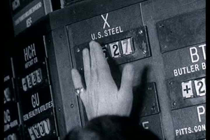 1950s - When something goes wrong on the stock exchange | Shutterstock HD Video #3942821