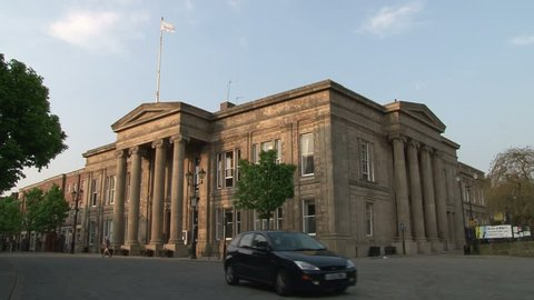 CHESHIRE, UK - AUGUST 2012:The council chambers of Macclesfield at the Old Town Hall.