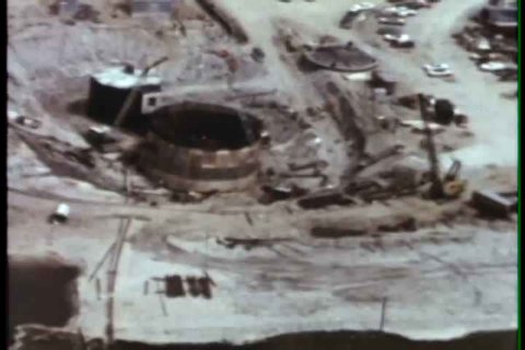 1960s - Aerial views of missile site and the manufacturing and testing of missiles and their components.