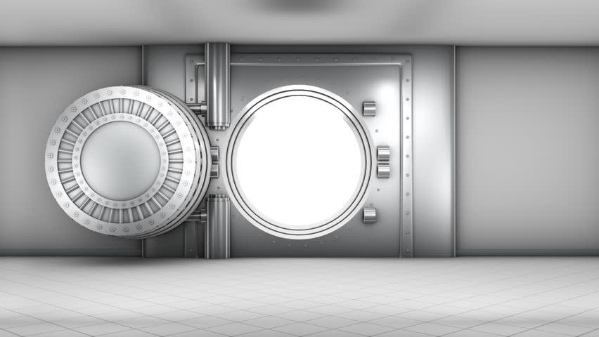 Stock Video Of Bank Vault Door Opening 3962251