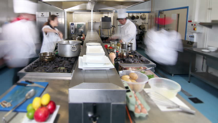 Busy Restaurant Kitchen busy chefs in kitchen in restaurant stock footage video 6091616
