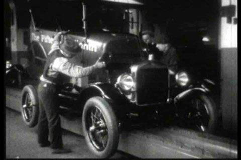 1920s - Old cars are turned in for scrap and recycled in 1927. The last Model T is built.