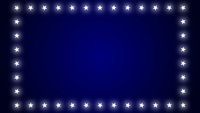 Stars background stock footage video shutterstock white stars marquee lights over a blue gradient background seamlessly loops thecheapjerseys Gallery