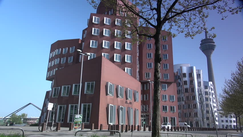 DUSSELDORF GERMANY May 8 Dusseldorf Harbor Is Home To Some Spectacular Postmodern Architecture