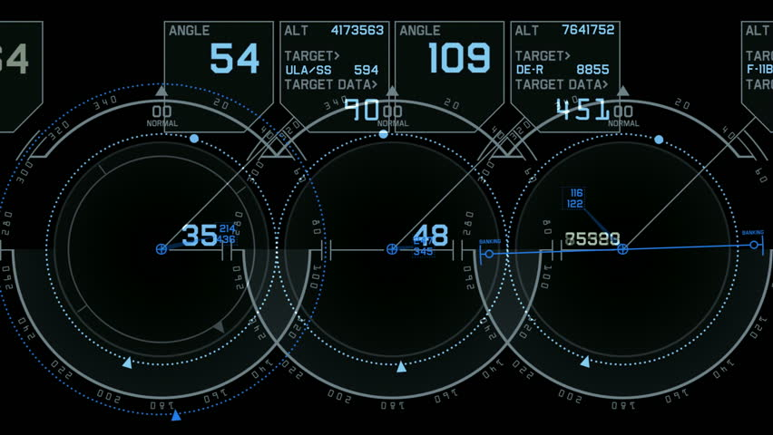 tech computer software panel,Radar GPS navigation screen display.