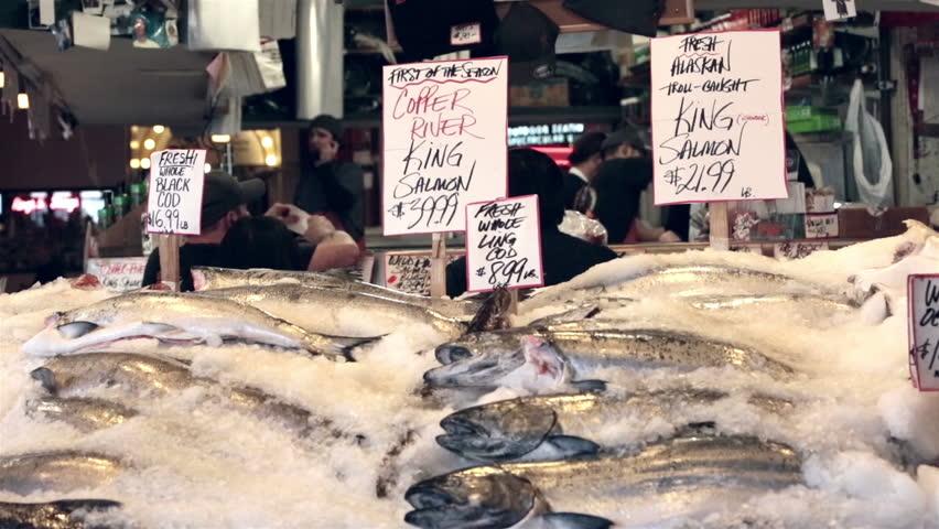 Seattle washington may 2013 famous fish market with fresh for Washington fish market