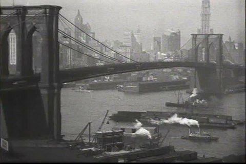 1910s - New York City, 1919 including excellent shots of Brooklyn Bridge.