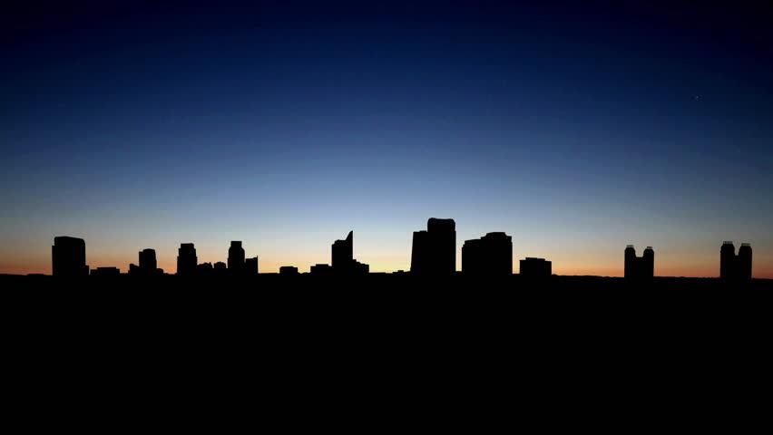 California Sacramento skyline sunrise