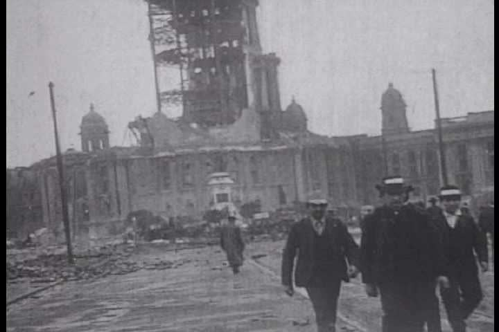 1900s aftermath of the san francisco earthquake in 1906 sd stock video clip