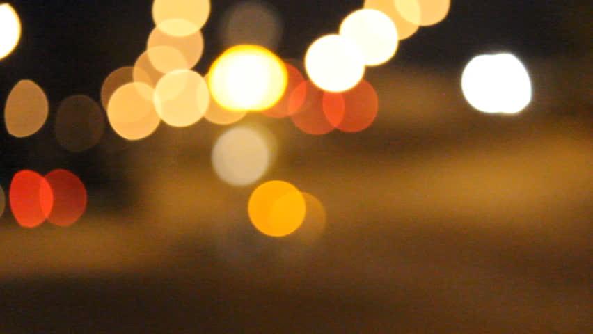 Traffic light bokeh is beautiful on night | Shutterstock HD Video #4068961