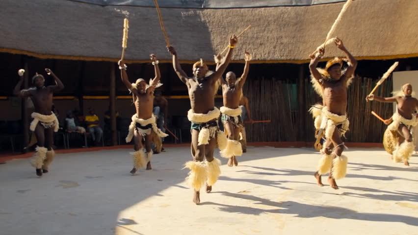 JOHANNESBURG - MAY 25 2012: Folk dances of Botswana and South Africa. South Africa Johannesburg 25 May 2012. 6pm