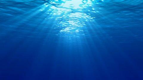 azure, loop,loop ready, looped, loops, underwater shot, landscape, scene,  tropical, relaxing, waves, beam, smooth, summer, sun, holiday, recreation, wonderous, wonder, beautiful, vivid, bright, HD,
