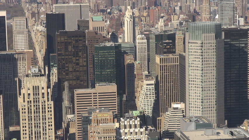 NEW YORK, APRIL 21, 2013, Aerial view of Midtown Manhattan by day | Shutterstock HD Video #4086361
