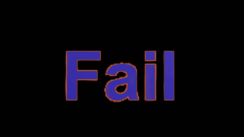 Flame blue fail word,fire text. | Shutterstock HD Video #4127611