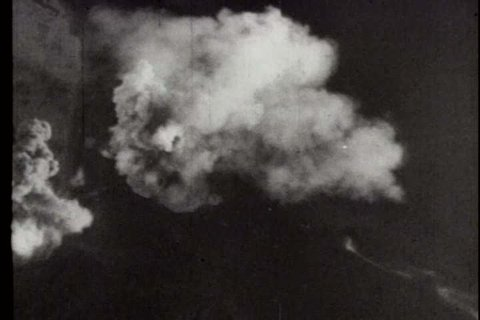 1940s - A film about World War II - footage of planes flying and a steel plant
