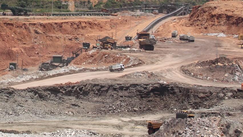 open pit lignite mine