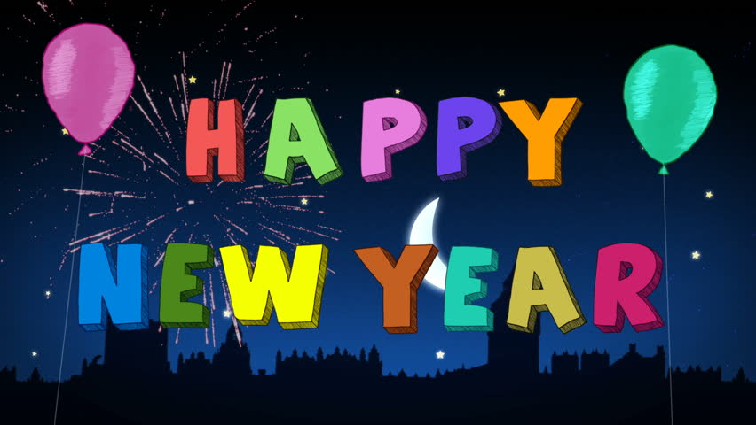 Happy New Year! Stop Motion Stock Footage Video (100% Royalty-free ...