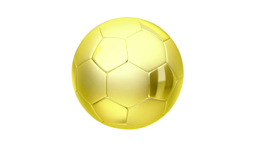 9251ea5fb Golden Soccer Ball Stock Footage Video (100% Royalty-free ...