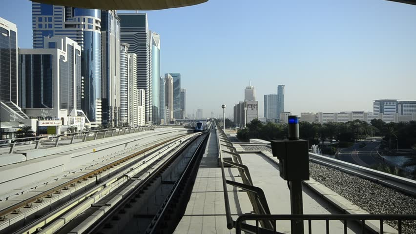 United Arab Emirates, Dubai, Sheikh Zayed Road, Metro Line