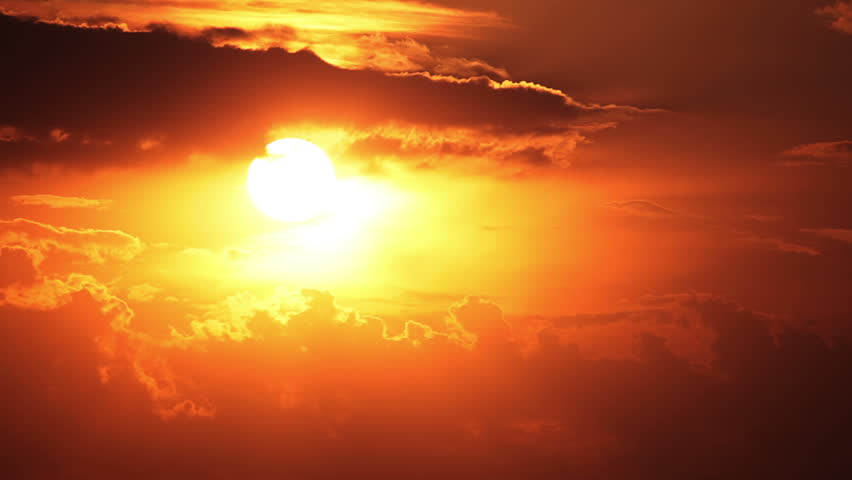 Clouds and sun. Sunset painted the sky. Timelapse | Shutterstock HD Video #4202299