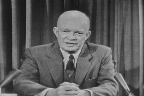 1950s - President Dwight Eisenhower delivers a speech about the crusade for freedom in the 1950s