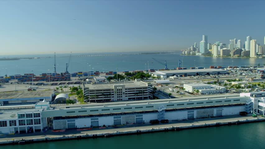 Miami December Aerial View Miami Cruise Ship Terminal - Miami cruise ship terminal