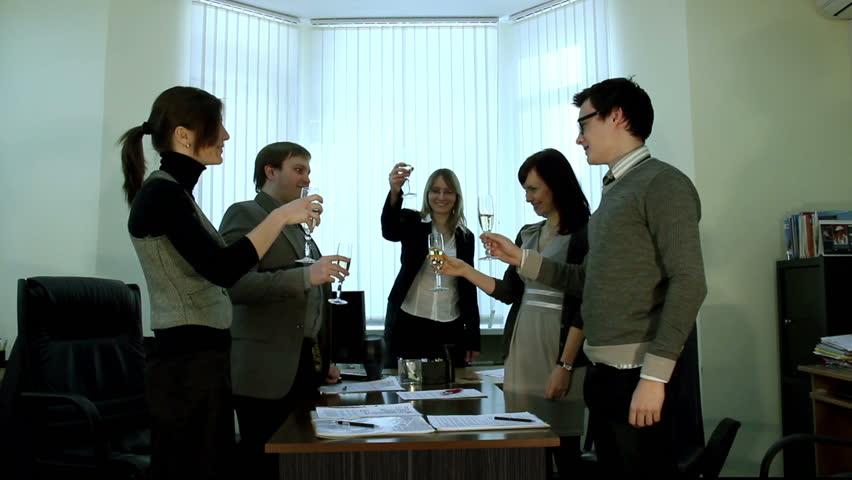 Business meeting, Success celebrating | Shutterstock HD Video #4210153