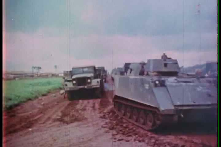1960s - The 11th armored cavalry regiment fights Vietcong forces during the Vietnam War