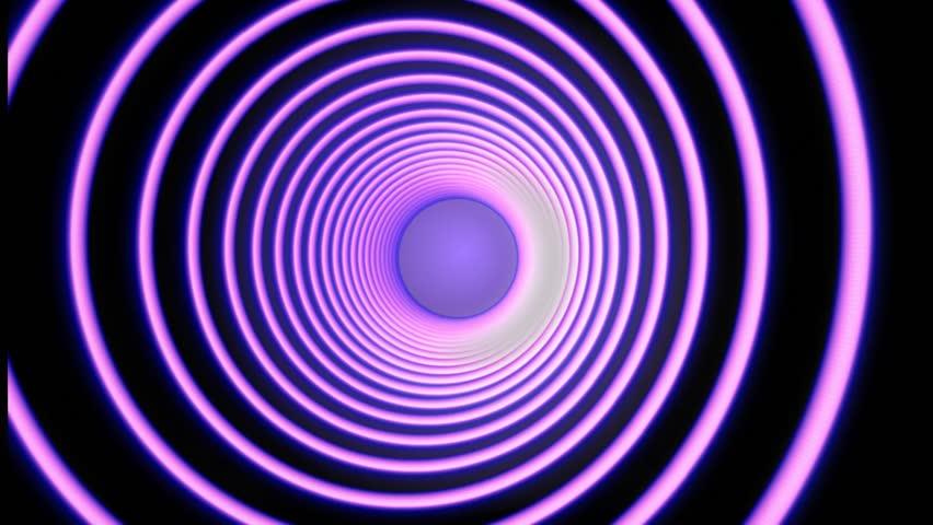 Neon Pink Hypnotic Spiral