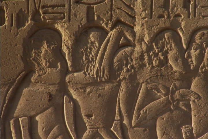 Relief carvings on wall of stock footage video royalty free