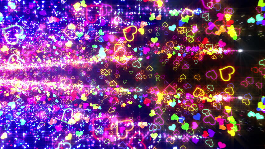 Colorful Heart Particle. | Shutterstock HD Video #4261571