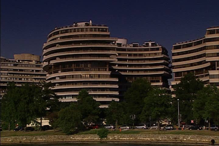 WASHINGTON, DC - SEPTEMBER 13, 2005: Passing the Watergate Hotel, shot from a boat on the Potomac River.