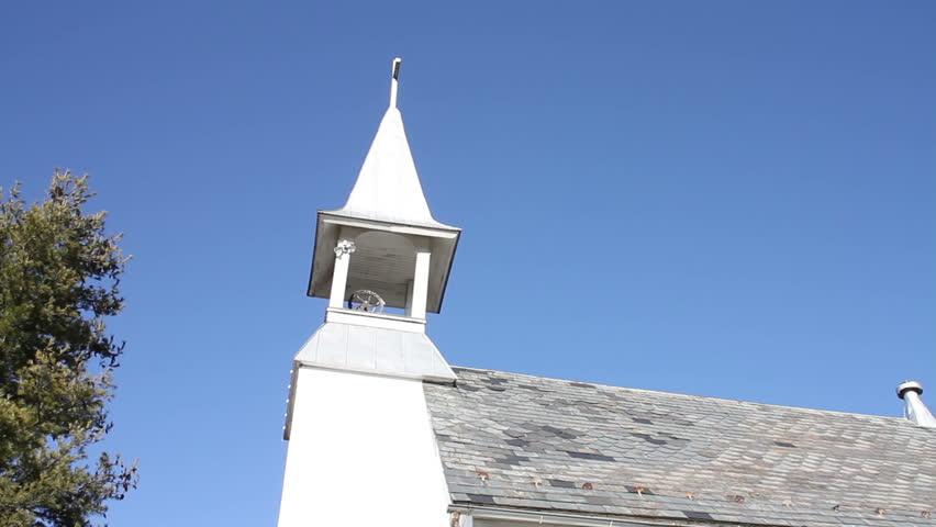 White Church Blue Sky