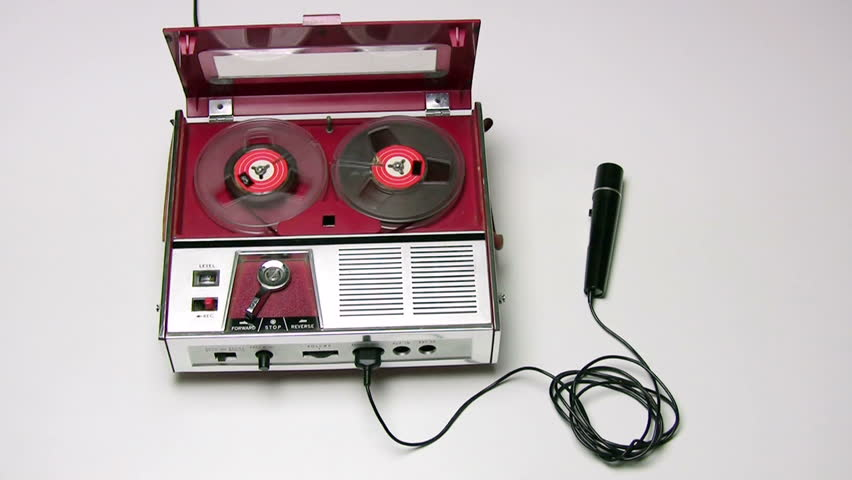 70's style tape recorder